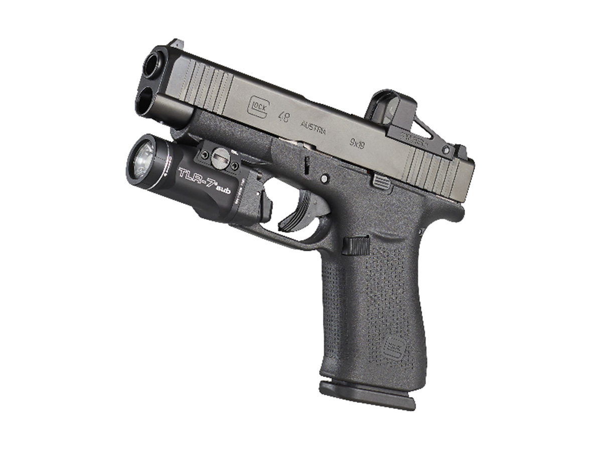 streamlight tlr-7 glock model mounted on weapon