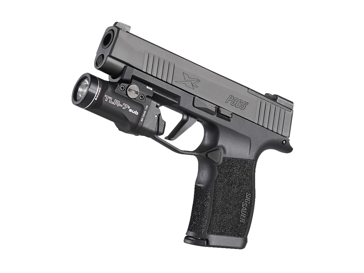 streamlight tlr-7 sig model mounted on weapon