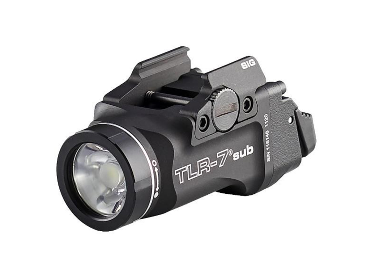streamlight tlr-7 sig sauer model at an angle
