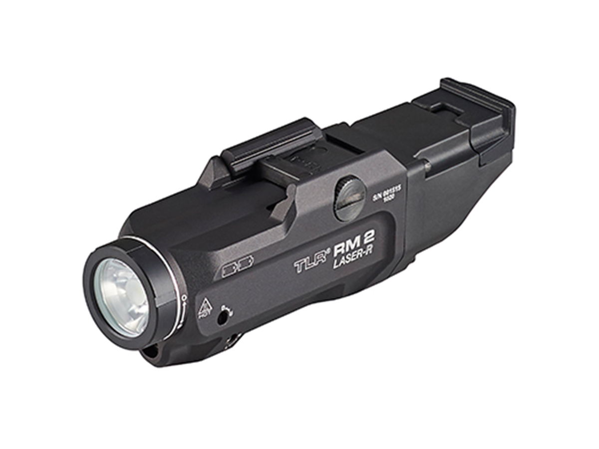 streamlight tlr rm 2 with laser at an angle