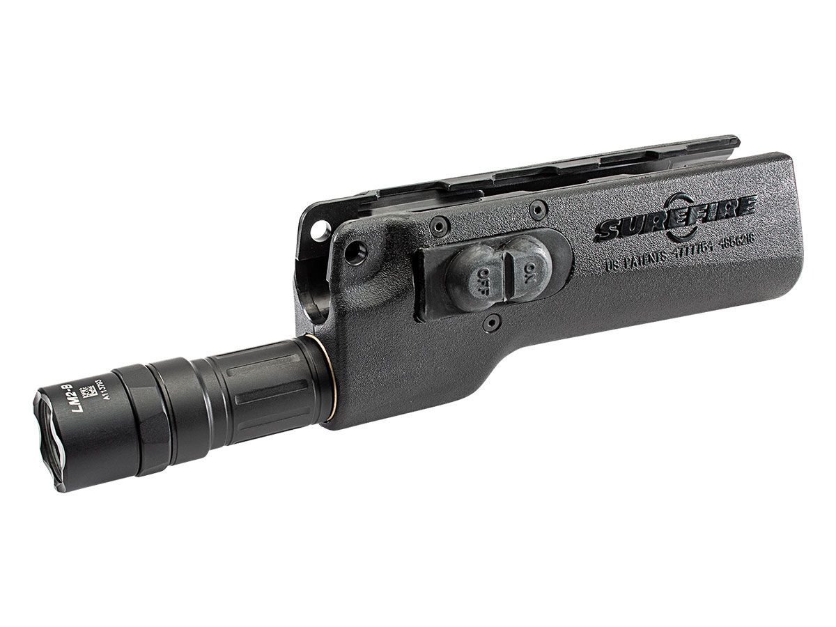 628LMF-B High output forend light- black