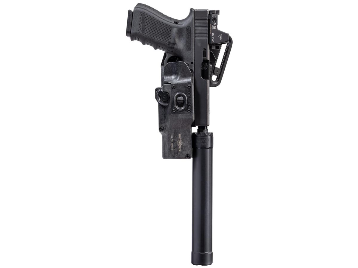 SureFire HD1 PRO Masterfire Rapid Deploy Holster - Weapon Mounted 1