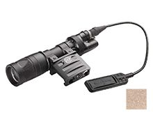 SureFire Vampire Scout Weapon Light - White and IR LEDs - 250 Lumens, 100mW - with Offset Mount and Remote Switch Assembly Options - Includes 1 x CR123A - Black or Tan