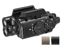 SureFire XVL2-IRC White and IR LED Weapon Light - 400 Lumens - 300mW - 520nm Green Laser - Includes 1 x CR123A - Black or Tan