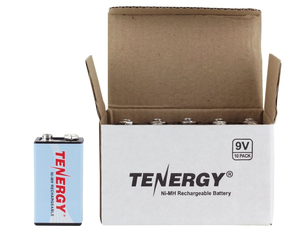 tenergy nimh 9v 10pk box and solo cell next to it