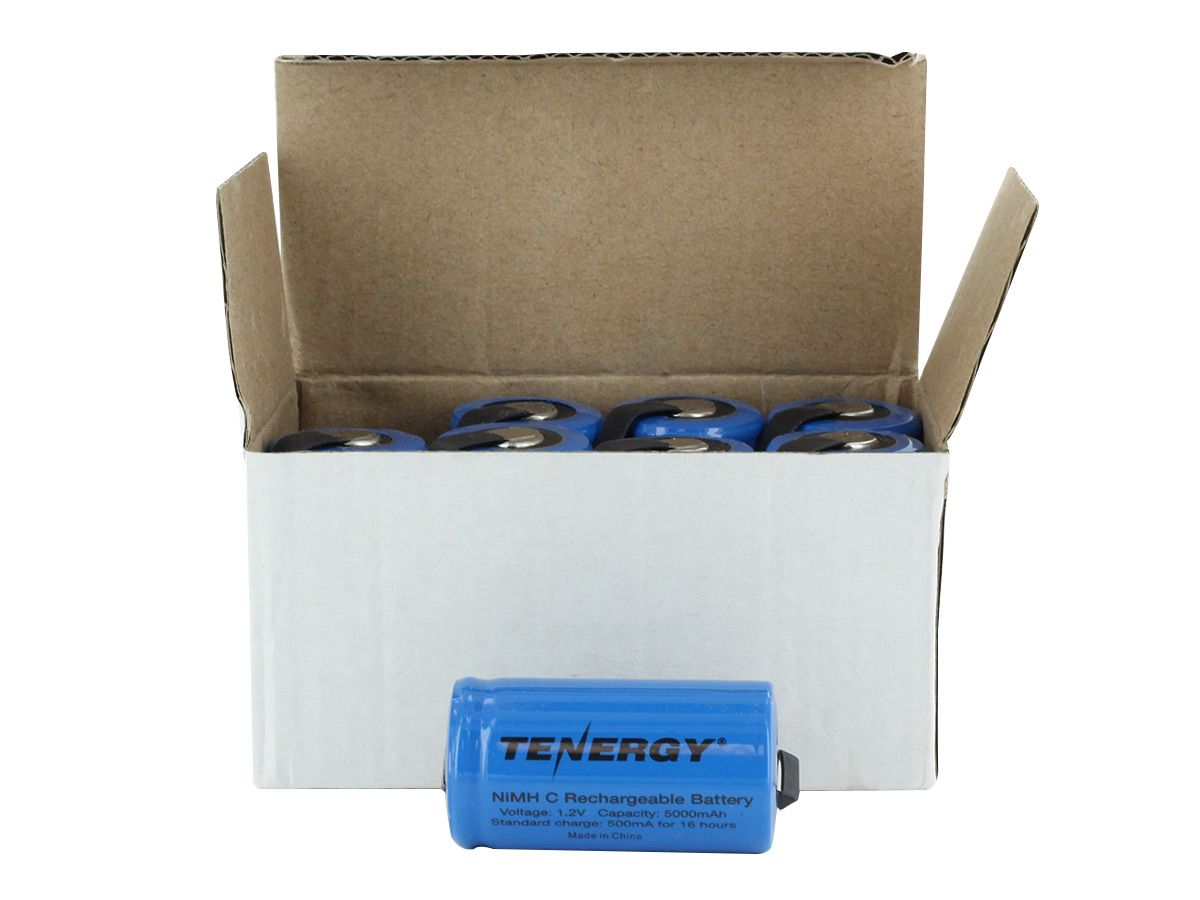 tenergy 10203 c cell in front of open box