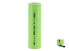 Tenergy 30001 14500 800mAh 3.7V Unprotected Lithium Ion (Li-ion) Flat Top Battery - With or Without Tabs - Bulk
