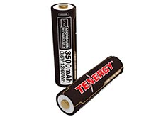 Tenergy 31779 18650 3500mAh 3.6V Protected Lithium Ion (Li-ion) Button Top Battery with Built-In Micro USB Charge Port - 2-Pack Plastic Box