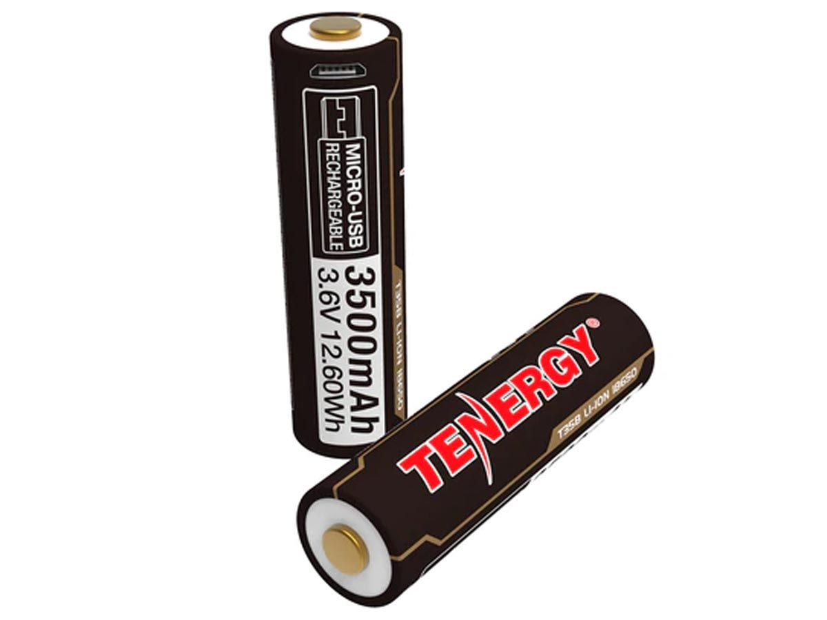 Tenergy 31779 18650s upright and angle