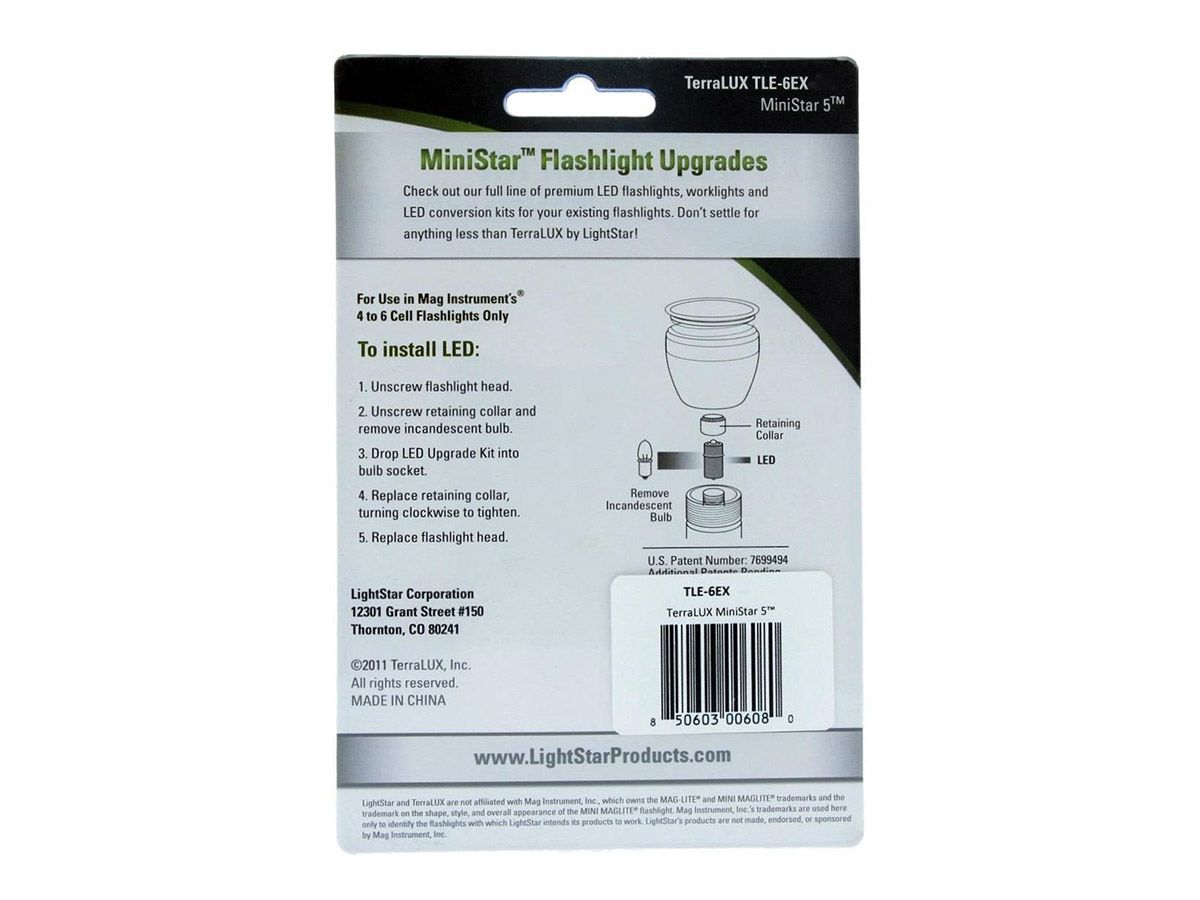 LITT Maglite Retaining Collar for LED Incandescent and Select Xenon Bulbs
