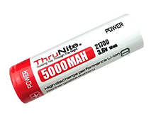 ThruNite 21700 5000mAh 3.7V Protected Lithium Ion (Li-ion) Button Top Battery