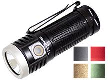 ThruNite T1 Rechargeable LED Flashlight - CREE XHP50 - 1500 Lumens - Includes 1 x 18350 - Black, Space Grey, Red, Desert Tan, or Dark Green