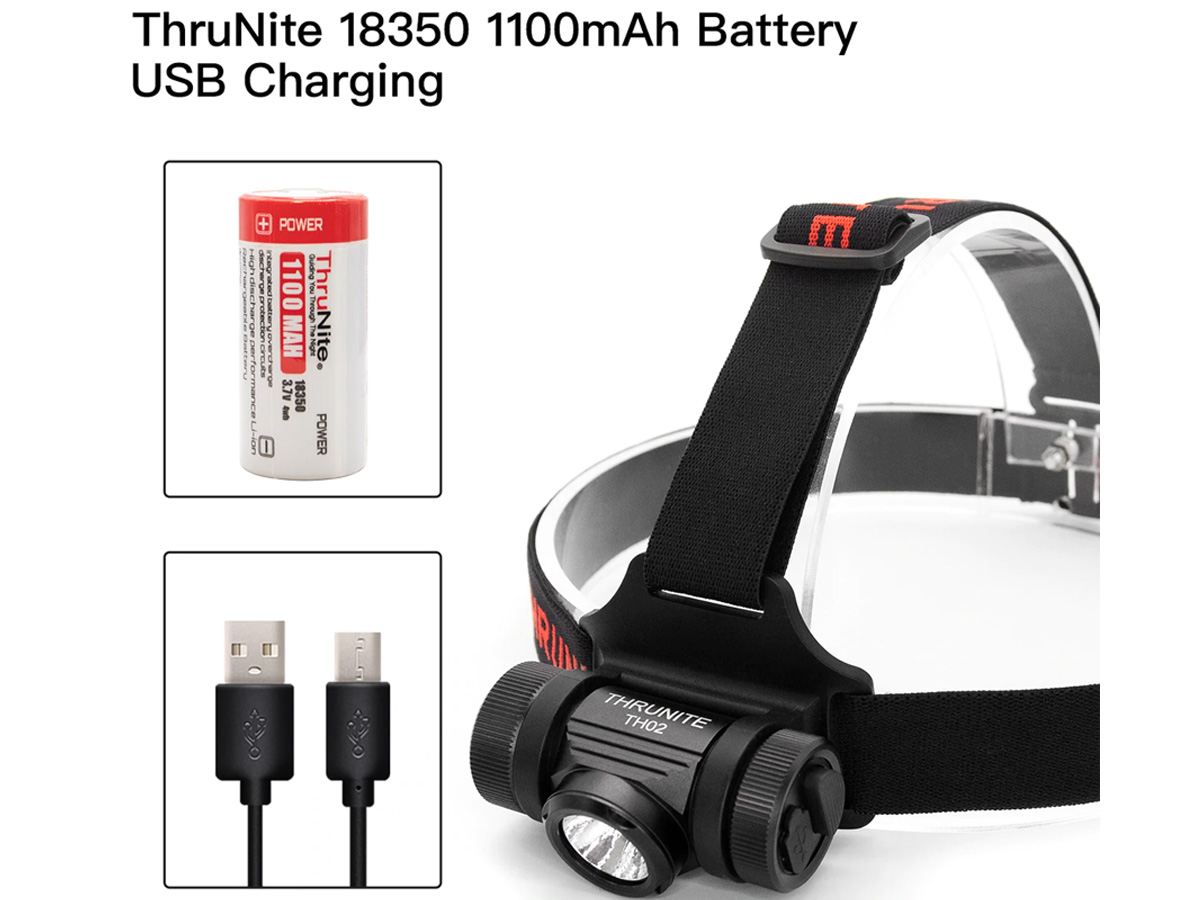 thrunite th02 slide about 18350 battery