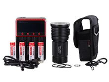 ThruNite TN36 Limited LED Flashlight Bundle - CREE XHP 70B - 11000 Lumens - Includes 4 x 18650 and 1 x MCC-4S Battery Charger