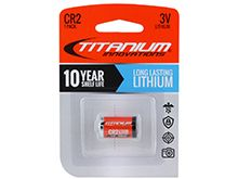 Titanium Innovations CR2 Battery - 1000mAh 3V Lithium (LiMnO2) Button Top Photo Battery - 1 Piece Retail Card