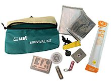 Ultimate Survival Technologies FeatherLite Survival Kit 2.0 - Include Compass, Blanket, Poncho, Whistle, Knife, Light Stick, Flashlight, Mirror, Towel and Matches - Orange (142569)