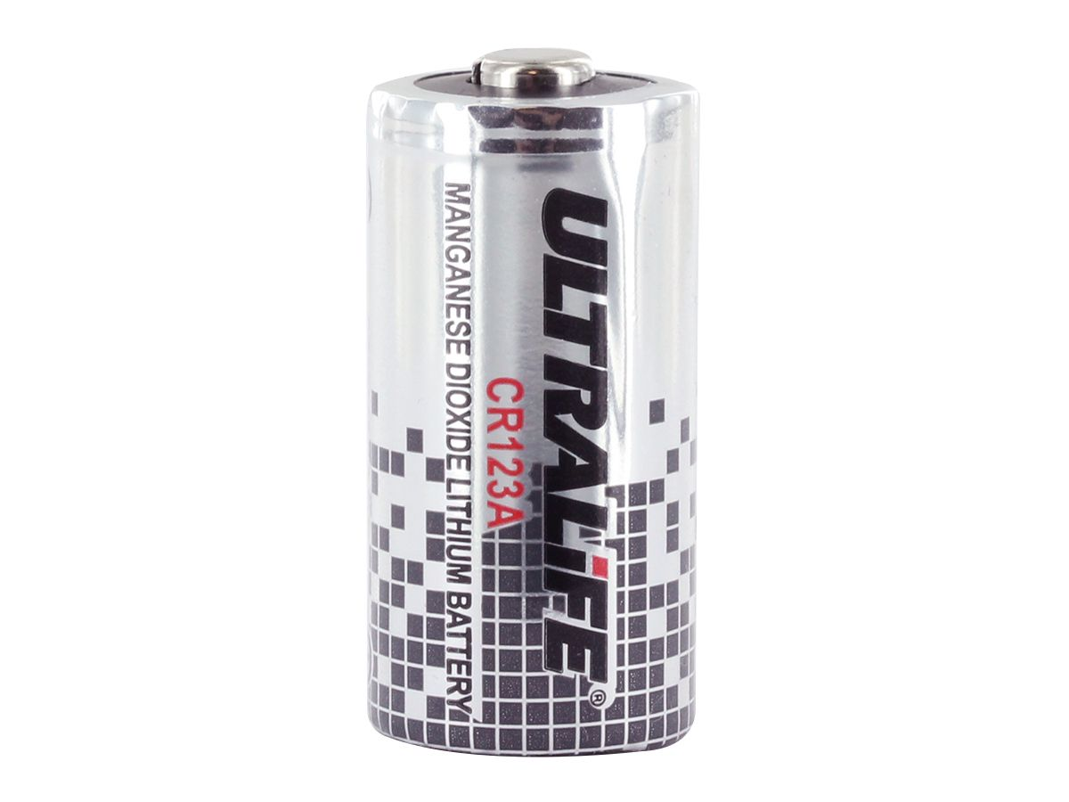 Ultralife UB123A CR123A Lithium Manganese Dioxide Battery Primary Non-Rechargeable