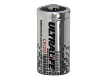 UltraLife UB123A CR123A 1650mAh 3V Lithium (LiMnO2) Button Top Photo Battery - Bulk