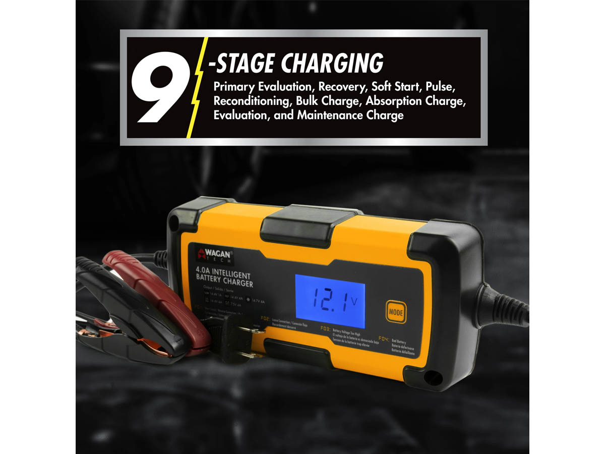 Wagan 4A Intelligent Battery Charger