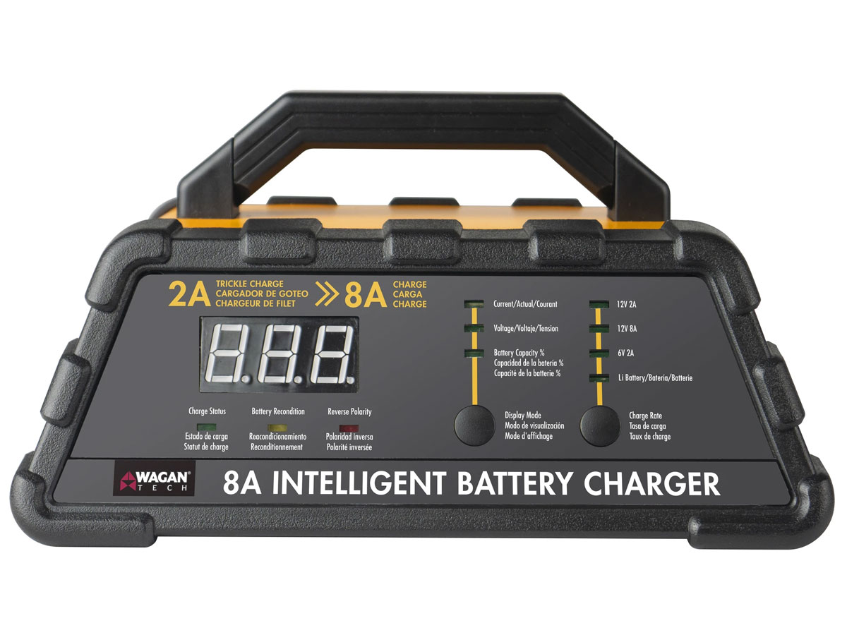 wagan 8a battery charger straight on