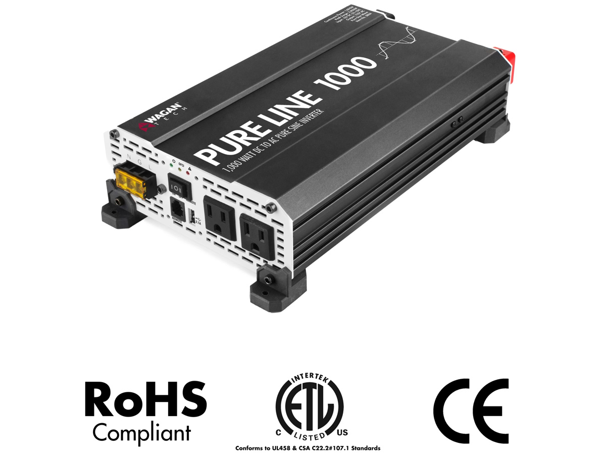 wagan pure line 1000w inverter certifications