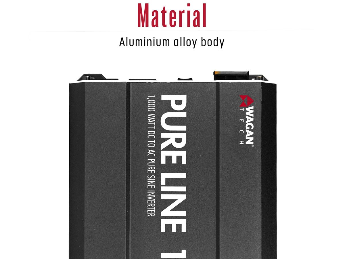 wagan pure line 1000w inverter construction material