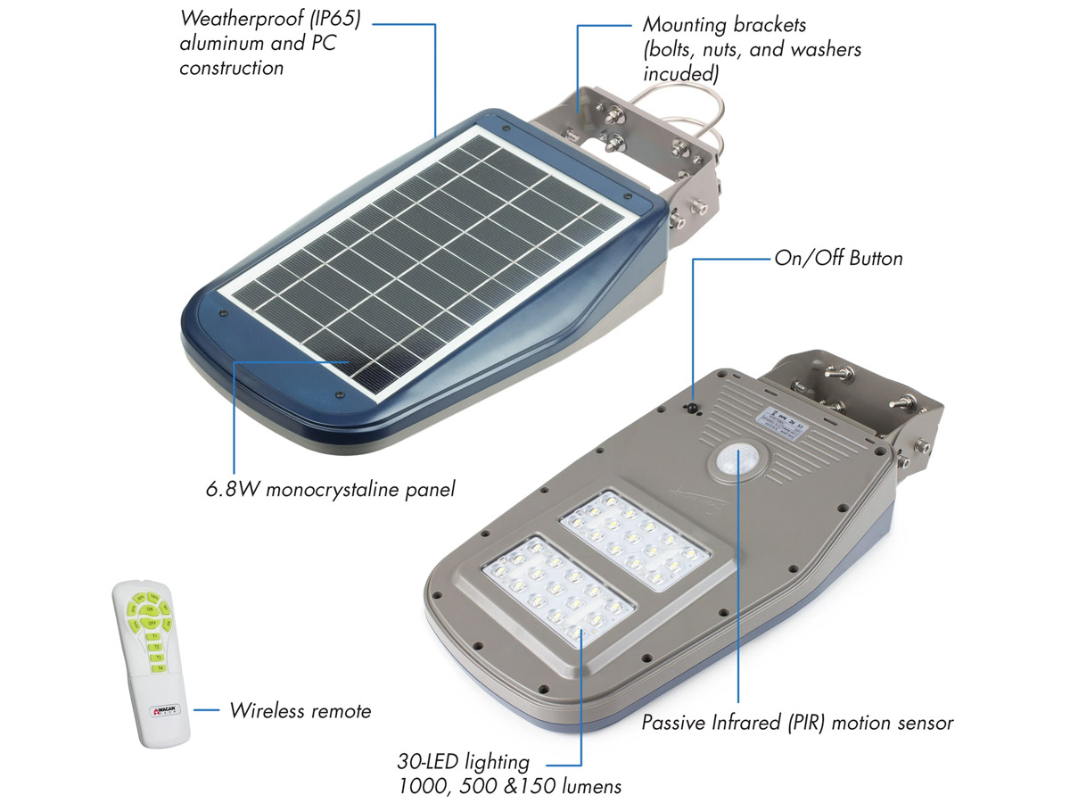 wagan solar led floodlight and remote parts description