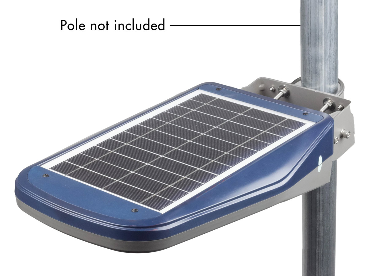 wagan solar led floodlight showing pole is not included