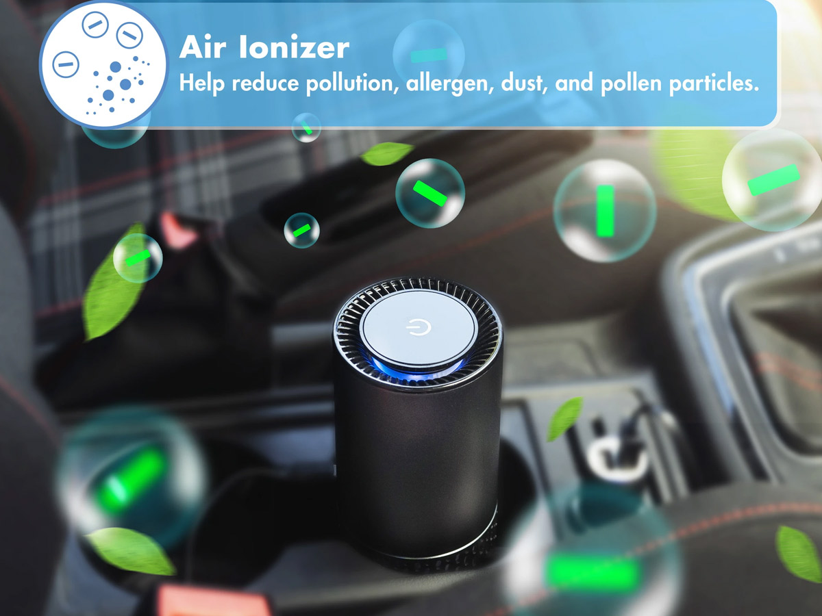 wagan usb air purifier, ionizer feature