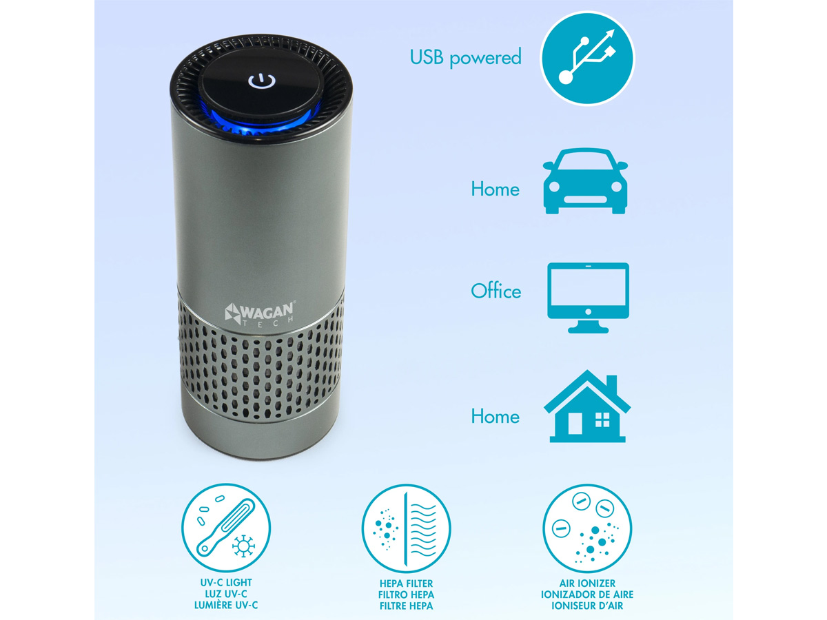 wagan usb air purifier application locations