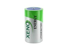 Xeno XL-205F-AX D-cell 19000mAh 3.6V Lithium Thionyl Chloride (LiSOCI2) Battery with Axial Leads - Bulk