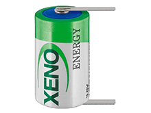 Xeno XLP-050F 1/2 AA 1200mAh 3.6V High Pulse Lithium Thionyl Chloride (LiSOCI2) Battery with Terminal Options