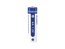 Xtar AA 2200mAh 1.2V Rechargeable Nickel Metal Hydride (NiMH) Low Self Discharge Button Top Batteries - 4 Pack