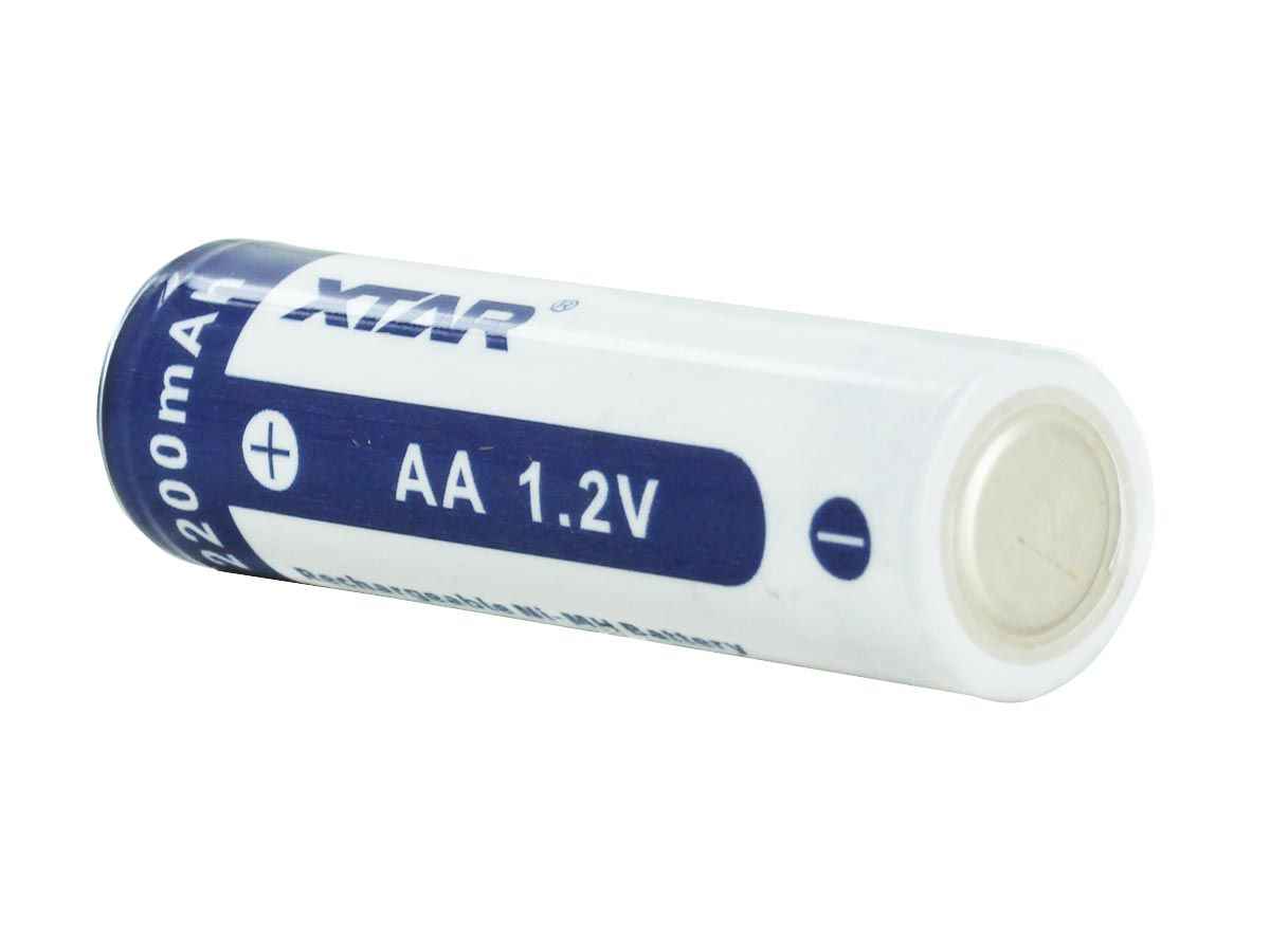 XTAR AA 2200mAh NiMH Battery - Diagonal 2