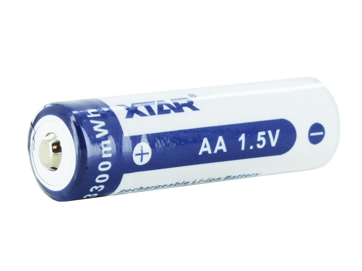 XTAR AA 2000mAh Li-ion 1.5V Battery - Diagonal 1