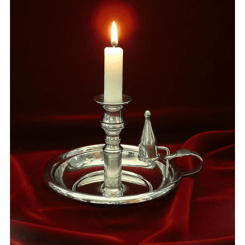 AE Williams Pewter Chamber Candlestick - 4.25 in.
