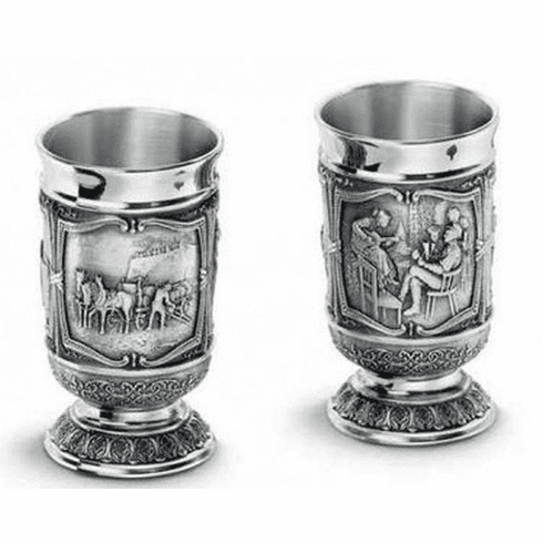 Artina Pewter Gambrinus Shot Cups - 2pc - 1.5oz