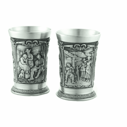 Artina Pewter Sommerabend Shot Cups - 2pc - 1.5oz