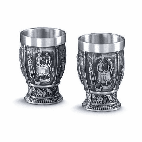 Artina Pewter Weinlese Shot Cups - 2pc - 1.5oz