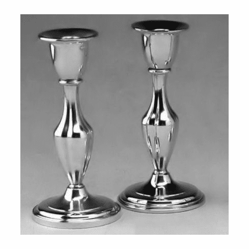 Boardman Pewter Candleholders - Fluted - 7 3/4 in. - Pair