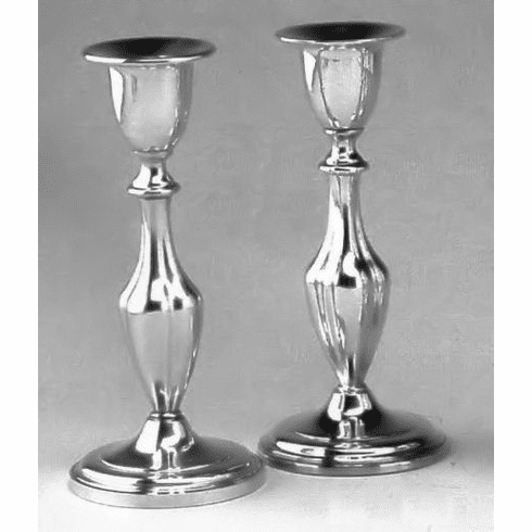 Boardman Pewter Candleholders -Fluted - 7 in. - Pair