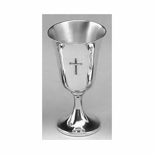 Boardman Pewter Chalice with Cross - 6 1/4 in.