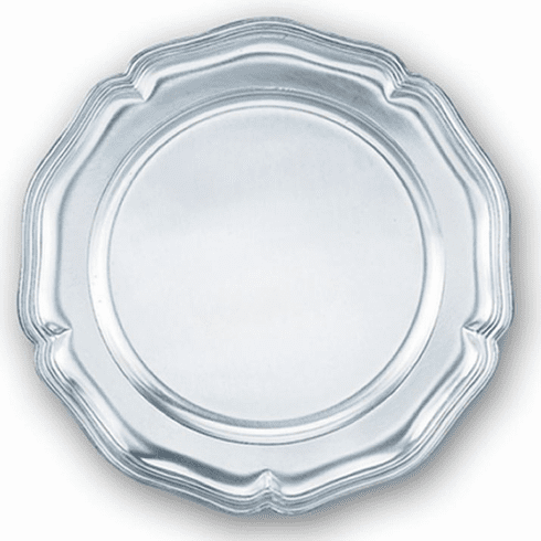 DNL Pewter Chippendale Plate - 10  1/2 in.
