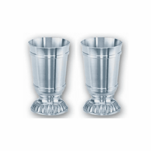 DNL Pewter Cupped Base Shot Cup - 2pc - 2 oz.