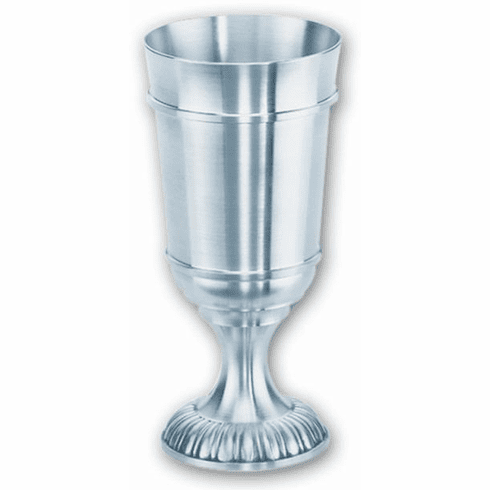 DNL Pewter Cupped Base Stemmed Cup - 14 oz.