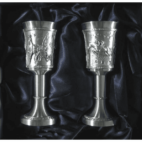 Eagle Pewter Stemmed Shot Cups 'Equestrian' - 2 pc - 1oz