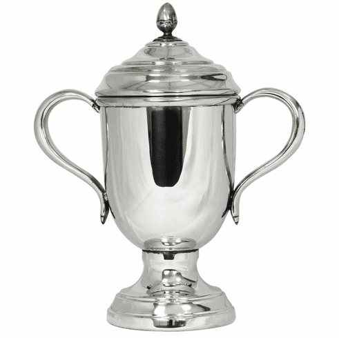 Salisbury Pewter Oxford Trophy Cup with Lid - 11 1/2 in. tall