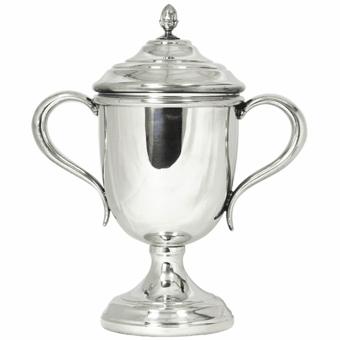 Salisbury Pewter Oxford Trophy Cup with Lid - 9 1/2 in. tall