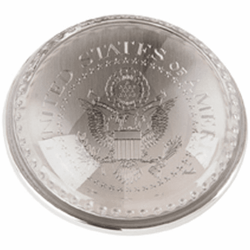 Salisbury Pewter Paperweight Glass Dome Engraved