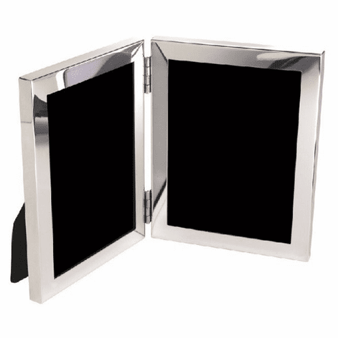 Salisbury Sterling Silver Double Picture Frame - 3x4 in.